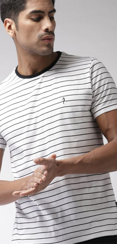 Mens Striped T-Shirt Exporter In Tirupur, India